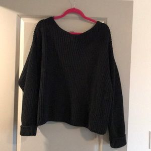 French Connection Slouchy Sweater Size M, Black
